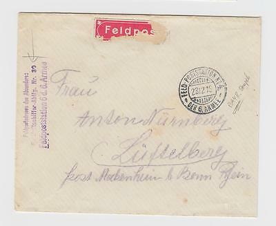 Airships, WWI: Germany: FLA 30 (Field Airships Unit 30) seal on 1915 cover