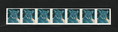US Scott #4141a Panther: PS7 #S1111, w/ yel. seam line IMPERF ERROR stamps, MNH