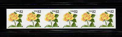 US #3054a Rose, Flower: IMPERF PS6 #5555. PNC coil ERROR stamps. CV $600.00. MNH