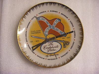 The Confederate States of America 1861-1865 1961-1965 Civil War Centennial Plate