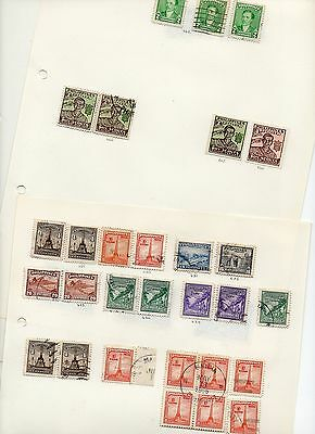 Philippines - Used stamps on pages from 1946 - 250(+) stamps