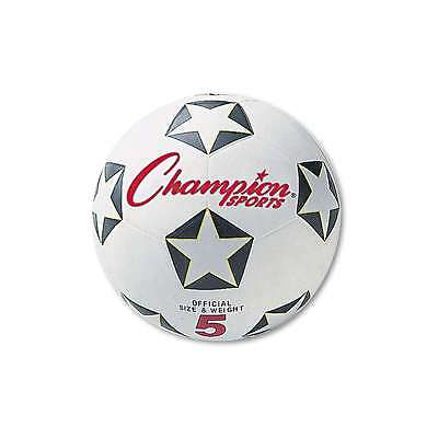Champion Sports Rubber Sports Ball, For Soccer, No. 4, White/Blac 710858009574