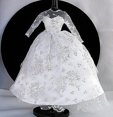 Barbie Doll Clothes Wedding Day Repro Dress Gown 1997 Vintage Reproduction #972