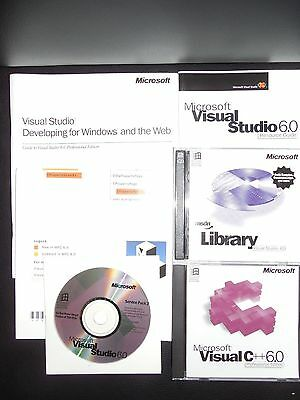 Microsoft Visual C++ 6.0 Professional 6 Commercial MSDN Library Windows XP 7 8