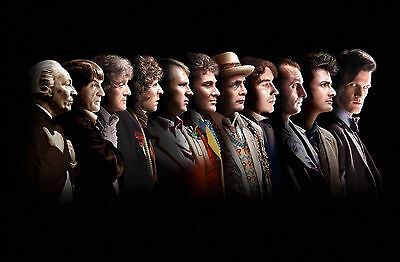 Dr Who Poster Print A3 Size (All The Doctors).,