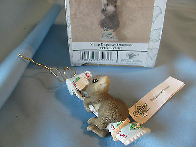 CHARMING TAILS Stamp Dispenser Ornament 87/483 DEAN GRIFF