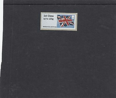 GB 2015  Post & Go Frama ATM Union Flag EUROPHILEX single 1st stamp  m/c GI01