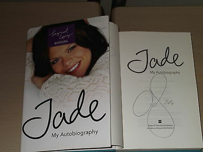 *Signed* JADE GOODY 'Jade : My Autobiography' HB 1st (Big Brother / Bermondsey)