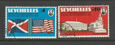Seychelles 1976 Seychelles & American Independence VFU SG 363/4