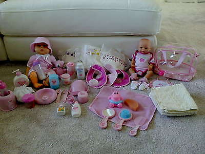 You and Me Doll Accessories (40 items) with x2 Dolls USED Condition