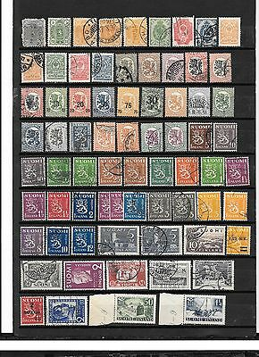 FINLAND- Accumulation of stamps from several collections- selling for fillins, e