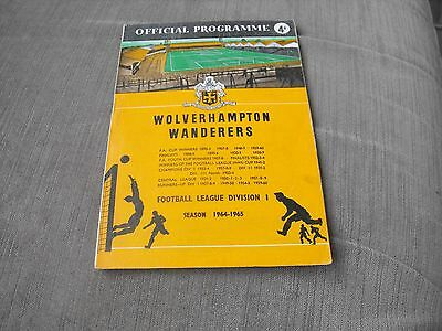 WOLVERHAMPTON WANDERERS v SHEFFIELD WEDNESDAY 6/2/65, DIVISION 1