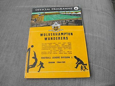 WOLVERHAMPTON WANDERERS v STOKE CITY 20/3/65, DIVISION 1