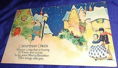RP1678 Vtg Xmas Card PostCard 1930 Clifford Wroxeter ON Harkness