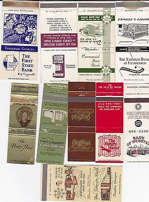 Lot Of 20 Different Georgia Matchbook Covers.  #1