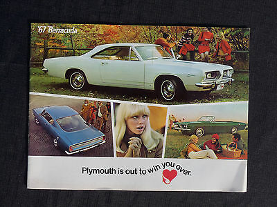 Rare Vintage Original 1967 Plymouth Baracuda Dealer Brochure Booklet