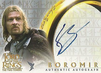 """Lord of the Rings The Two Towers TTT - Sean Bean """"Boromir"""" Autograph Card"""