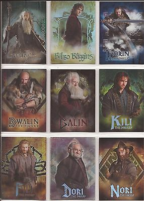 """The Hobbit An Unexpected Journey - CB01-19 """"Foil Characters"""" 19 Card Chase Set"""