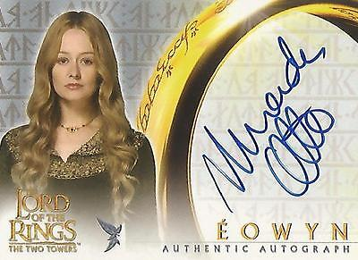 """Lord of the Rings The Two Towers TTT - Miranda Otto """"Eowyn"""" Autograph Card"""