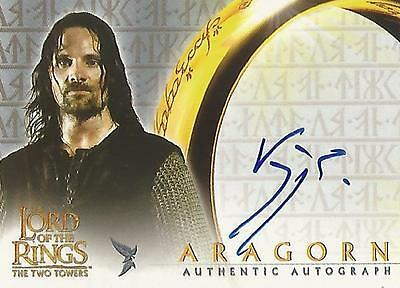 """Lord of the Rings The Two Towers TTT - Viggo Mortensen """"Aragorn"""" Autograph Card"""