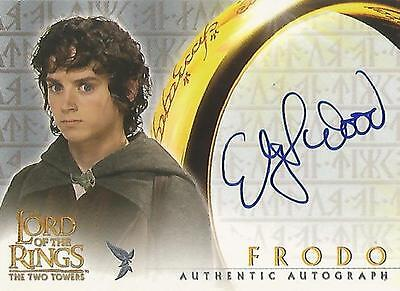 """Lord of the Rings The Two Towers TTT - Elijah Wood """"Frodo"""" Autograph Card"""