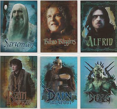 """The Hobbit Five Armies - """"Character Biography"""" Set of 6 Chase Cards #CB29-CB34"""
