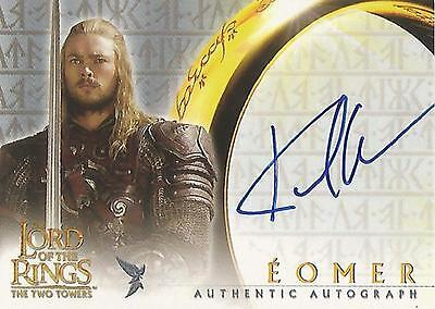"""Lord of the Rings The Two Towers TTT - Karl Urban """"Eomer"""" Autograph Card"""