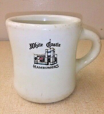 Early White Castle Hamburgers Restaurant Mug Four Colors D.E. McNicol China