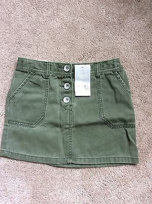 Lovely Girls Next Denim Skirt In Khaki Brand New With Tags Age 8