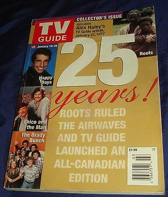 BR988 Vtg TV Guide Jan 19-25 2002 Alex Haley 25 Years Collector's Issue
