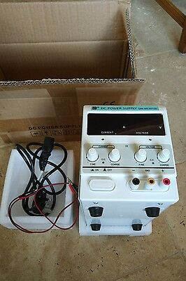 QW-MS3010D Adjustable Lab DC Bench Power Supply 0-10A 0-30V Variable Linear UK