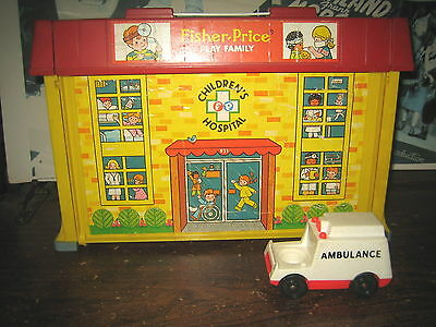 1 Rare Htf Vintage Collectable Fisher-Price # 931 Children Hospital , Sold As Is
