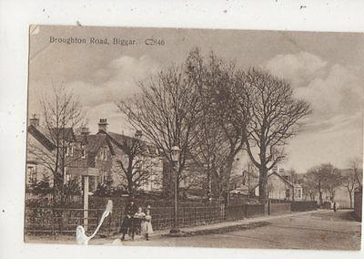 Broughton Road Biggar Lanarkshire 1927 Postcard