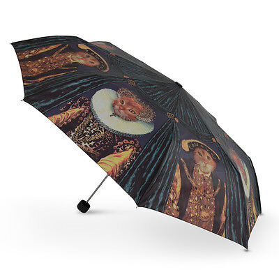 Cascada Collection - Art Print Manual Folding Umbrella - Royal Cats