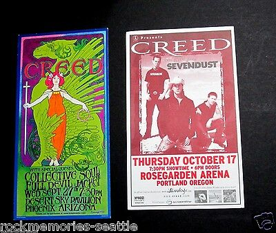 Creed Lot 2 Concert Handbills Cards and 2003 Embroidered Iron/Sew On Patch