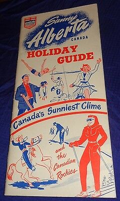 BR1623 Vtg 1951 Alberta Holiday Guide Tourist Camps Hotels Golf Guest Ranches Ad