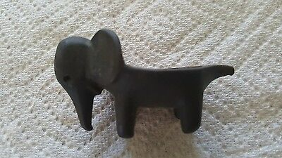 Vintage Elephant Metal Trinket Item Figurine
