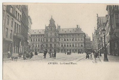 Belgium, Anvers, La Grand Place Early UB Postcard, B274