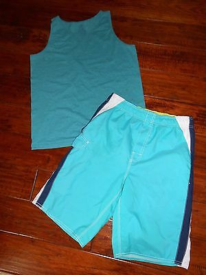 Boys Bathing Suit / Board Shorts / Swim Trunks Size 18 / 20 + Bonus Tank