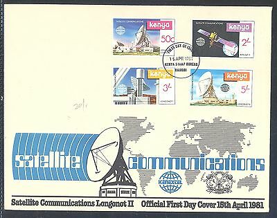 Kenya Oversize FDC Satellite Communications Logonot II 1981