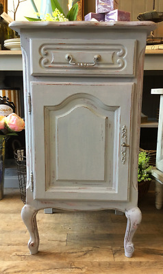 French Vintage Painted Bedside Cabinet