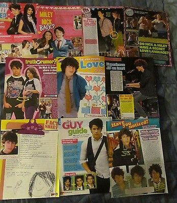 Nick Jonas, The Jonas Brothers, Lot of TEN Full Page Clippings