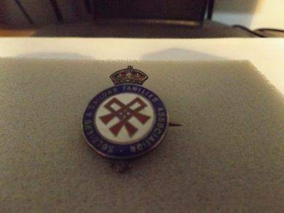 Ww2 Home Front Badges Ssafa (Silver)