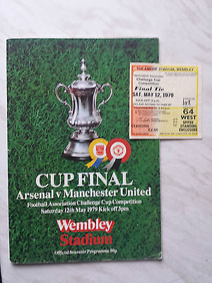 MANCHESTER UNITED v. ARSENAL 1979 FA CUP FINAL PROGRAMME & TICKET *VGC*