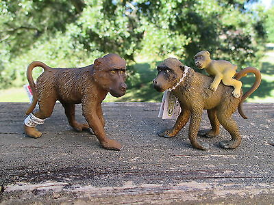 BABOON FAMILY by Collect A;toy/baboons/monkeys/NEW/NICE!!