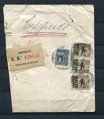 Uruguay Registered Cover  (right side) to New York Wax Seal Delibered 8/14/1947