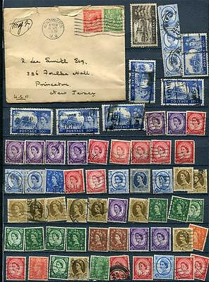 Great Britain 1931 Cover to USA +Accumulatoion of Revenue stamps G2110b
