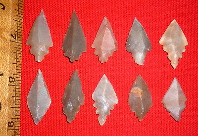 (10) Choice Sahara Mesolithic Points, Arrowheads, Prehistoric African Artifacts