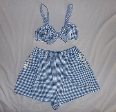 Rare NWOT Vintage 1960's SEA WAVES 2 PIECE EMBROIDERED SWIMSUIT WITH POCKETS 8