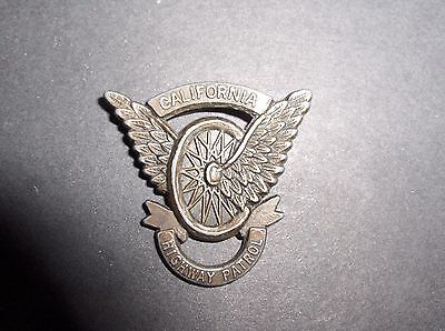 Obsolete California Highway Patrol Motorcycle Badge with Pin (Very Old & Rare)